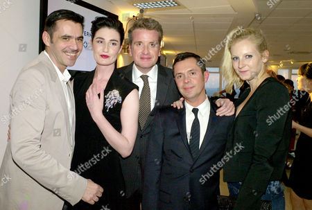 Stock Image of Launch Party For 'White Light' A 40 68ct Diamond Brooch Designed by Shaun Leane For Forevermark Precious Collection at Altitude Millbank Tower Roland Mouret Erin O'connor Francois Delage Shaun Leane and Savannah Miller