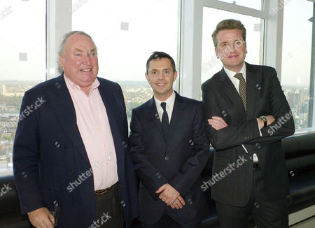 Launch Party For 'White Light' A 40 68ct Diamond Brooch Designed by Shaun Leane For Forevermark Precious Collection at Altitude Millbank Tower Anthony Oppenheimer Shaun Leane and Francois Delage (forevermark Ceo)