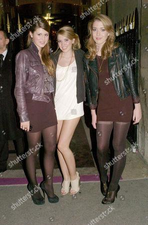 Stock Photo of Le Bal Des Debutantes (debutante Ball) at the the Hotel De Crillon Paris Carinthia Pearson Georgie Roberston and Angelica Hicks (r)
