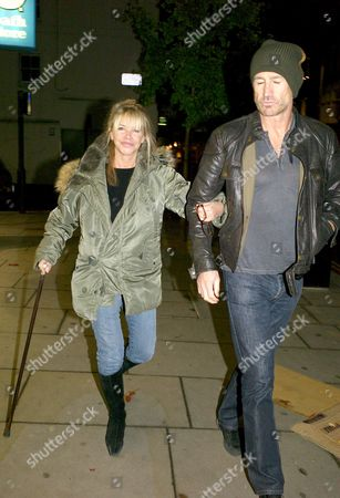 Stock Image of Leslie Ash and Her Husband Lee Chapman Take A Walk Down Fulham Road