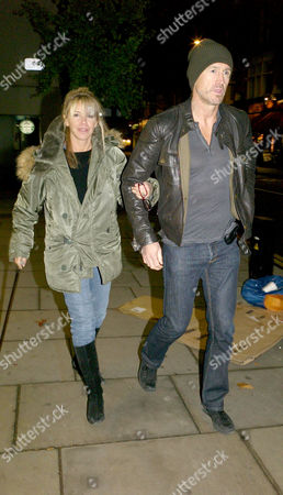 Leslie Ash and Her Husband Lee Chapman Take A Walk Down Fulham Road