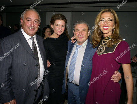 London's 1000 Most Influential People 2009 Launch Party at Burberry Horseferry House Horseferry Road London\ Natalie Massenet Heather Kerzner & Sir Philip Green Sir Philip Green Natalie Massenet Sol Kerzner & Heather Kerzner