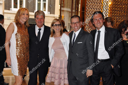 Louis Vuitton New Bond Street Maison Opening Sue Whiteley Yves Carcelle Jonathan Newhouse with His Wife Ronnie