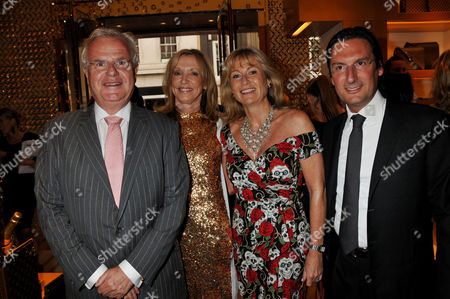 Louis Vuitton New Bond Street Maison Opening Paul Myners with His Wife Alison Sue Whiteley