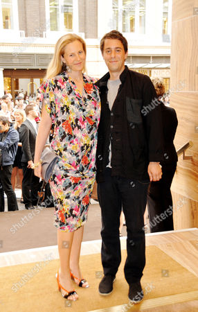 Louis Vuitton New Bond Street Maison Opening Alannah Weston and Her Husband Alexander Cochrane