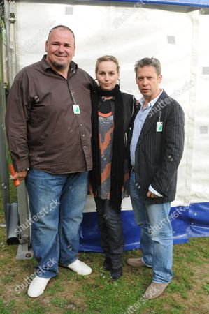 Macmillan Dog Day at the Royal Hospital Chelsea London Stephen Marcus Tara Fitzgerald and Dexter Fletcher