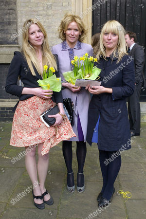 Lunch Memorial Service and Wake For Sir David (dai) Llewellyn at Frantoio Kings Road St Pauls Church Knightsbridge & Pucci's Pizza Kings Road Chelsea Vanessa Anstruther-gough-calthorpe with Her Daughters Arabella and Olivia Llewellyn
