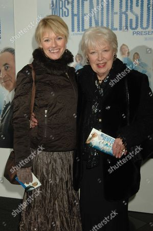 Uk Premiere of Mrs Henderson Presents at the Vue Cinema Leicester Square London June Whitfield with Her Daughter