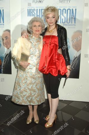 Uk Premiere of Mrs Henderson Presents at the Vue Cinema Leicester Square London Doris Barry & Anna Brewster
