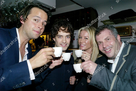 Opening Party For Barts in Chelsea Cloisters Sloane Avenue Charlie Gilkes Lee Mead Denise Van Outen and James Max Drink Bart's Tea