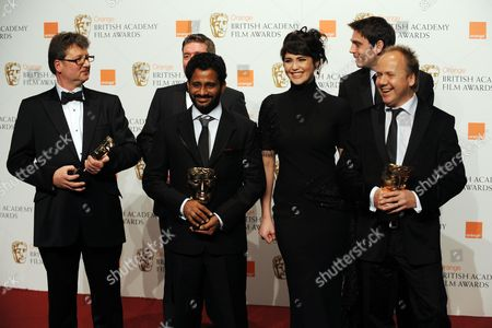 Orange British Academy Film Awards at the Royal Albert Hall- Press Room Gemma Arterton (presenter of Best Sound to Slumdog Millionaire' Collected by Glenn Freemantle Resul Pookutty Richard Pryke Tom Sayers and Ian Tapp