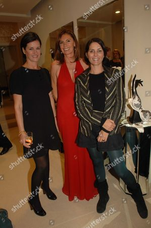 Party to Open Carine Gilson Lingerie Couture Shop in Lowndes Street Belgravia London Miranda Davis Fiona Wigan & Sadie Frost