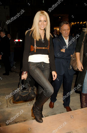 Pepe Jeans Launch Party at 17 Berkeley Street London Sienna Miller with Her Agent Dallas Smith