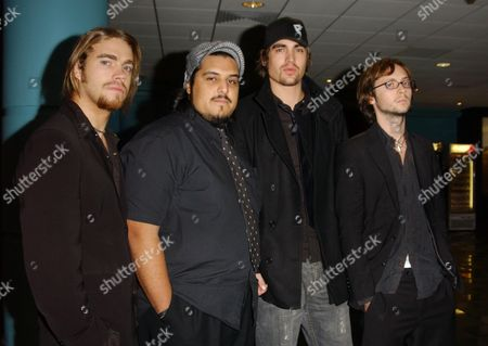 Stock Image of Fightstar - Charlie Simpson Omar Abidi Dan Haigh and Alex Westaway