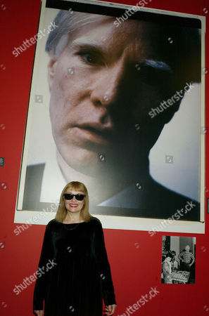 Stock Image of Private View of 'Andy Warhol: Other Voices Other Rooms' at the Hayward Gallery Southbank Bibbe Hansen