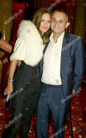 Private View of the New Cartier High Jewellery Collection at Lancaster House Stable Yard St James Trinny Woodall with Her Husband Johnny Elichaoff