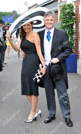 Stock Image of Royal Ascot 2009 Ladies Day Carol Vorderman and Des Kelly