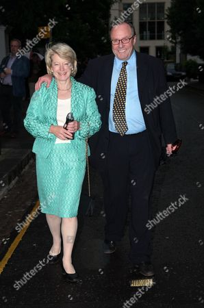 Annual Garden Party Carlyle Square Chelsea Michael Ancram with His Wife Jane Fitzalan Howard