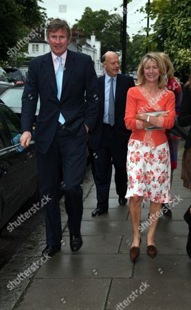 Stock Image of Annual Garden Party Carlyle Square Chelsea Bertie Way Nick George and Lady Marsha Fitzalan-howard