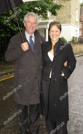 Annual Summer Garden Party in Carlyle Square Chelsea William Waldegrave Baron Waldegrave of North Hill with His Wife Caroline Waldegrave