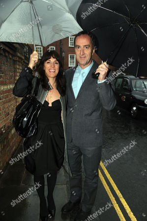 Annual Summer Garden Party in Carlyle Square Chelsea Lise Mayer and Angus Deayton