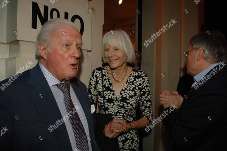Snowdon Private View at Chris Beetles Gallery Mayfair London John Julius Norwich with His Wife Anne