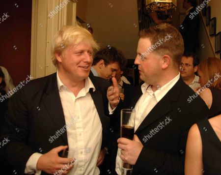 Stock Picture of Spectator Magazine Summer Party at the Spectator Offices in Doughty Street Boris Johnson Mp and Matthew D'ancona