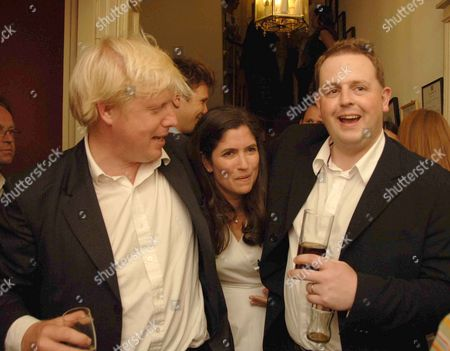 Stock Image of Spectator Magazine Summer Party at the Spectator Offices in Doughty Street Boris Johnson Mp Kimberley Fortier and Matthew D'ancona