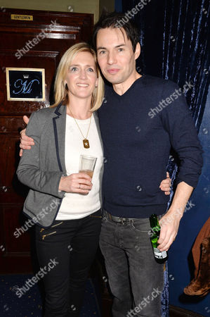 'Strangers On A Train' Press Night at the Gielgud Theatre and Afterparty at Cafe De Paris Tam Williams with His Wife Dr Serena Bourke