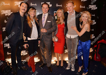 'Strangers On A Train' Press Night at the Gielgud Theatre and Afterparty at Cafe De Paris Co-stars - Jack Huston Imogen Stubbs Christian Mckay Miranda Raison Laurence Fox and Myanna Buring