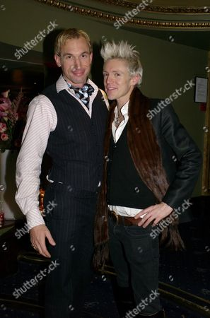 Stock Picture of Terrence Higgins Trust Supper Club at the Cafe De Paris Coventry Street Dr Christian Jessen & Graham Rebak