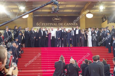 The 2007 Cannes 60th Anniversary Film Festival - 'Oceans 13' - the Cast of Ocean's 13 Including Matt Damon George Clooney and Brad Pitt and the Director Jerry Weintraub Andy Garcia Ellen Barkin and Scott Caan Elliot Gould Don Cheadle