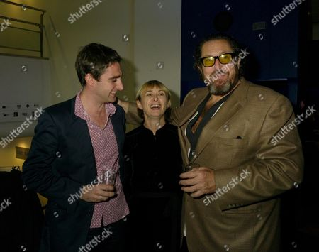 the 2007 London Film Festival Screening of the Diving Bell and the Butterfly at the Odeon Westend Leicester Square Dave Calhoun Timeout Film Editor Lff Director Sandra Hebron and the Films Director Julian Schnabel