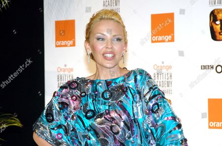 the 2007 Orange British Academy Film Awards Sponsored by Orange at the Royal Opera House Covent Garden Kylie Minogue Who Presented the Anthony Asquith Award For Achievment in Film Music