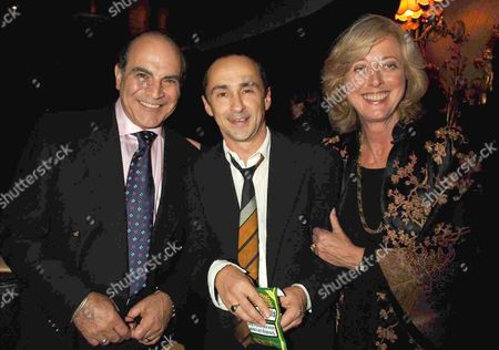 1st Night Party For the 39 Steps at the Cafe De Paris Coventry Street London David Suchet & Maria Aitken with Simon Gregor (c)