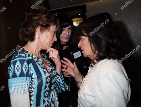 London, United Kingdom, 17th October 2016: Kathy Lette, Catherine Mayer & Helena Kennedy, Baroness Kennedy of the Shaws at the 61st Women of the Year Lunch and Awards at the Park Hotel in London On the 17th October 2016.