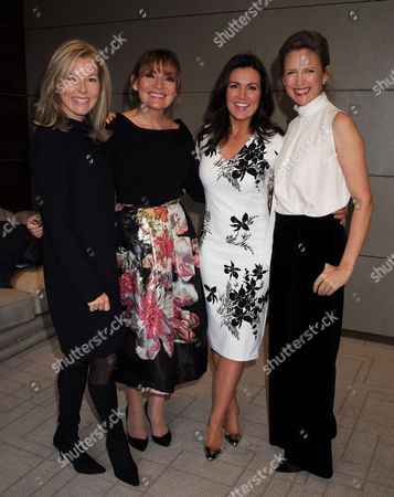 London, United Kingdom, 17th October 2016: Katie Derham, Mary Nightingale, Lorraine Kelly and Susanna Reid at the 61st Women of the Year Lunch and Awards at the Park Hotel in London On the 17th October 2016.