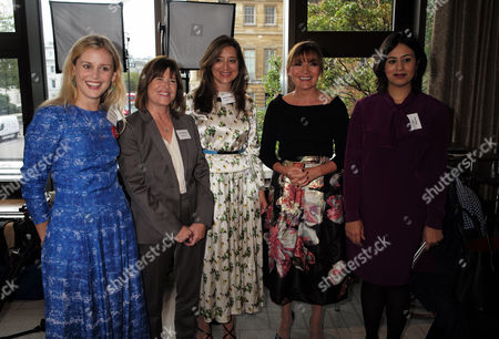 Stock Picture of London, United Kingdom, 17th October 2016: Denise Gough, Jane Rawnsley, Andrea Bonafe, Lorraine Kelly and Sara Khan at the 61st Women of the Year Lunch and Awards at the Park Hotel in London On the 17th October 2016.