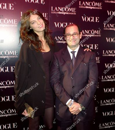 The 6th Lancome Colour Designs Awards Held at Lindley Hall Victoria London Daria Werbowy & Claudio Collarile