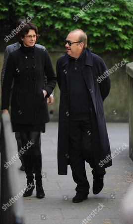 Arrivals at the Funeral For Sir Clement Freud at St Brides Fleet Street London Mel Smith