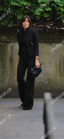 Arrivals at the Funeral For Sir Clement Freud at St Brides Fleet Street London Claudia Winkleman