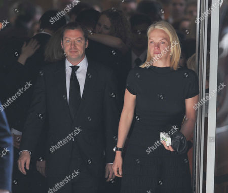 The Funeral For Sir Clement Freud at St Brides Fleet Street London Matthew Freud & Elisabeth Murdoch