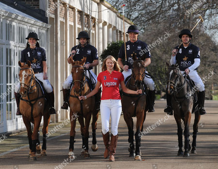 The Launch of the World Polo Series at the Hurlingham Club London England the World Polo Series Will Begin at Hurlingham Park For A 3 Day Extravaganza Kirsty Craig Henry Brett Jack Kidd & Jamie Morrison with Jodie Kidd in Front