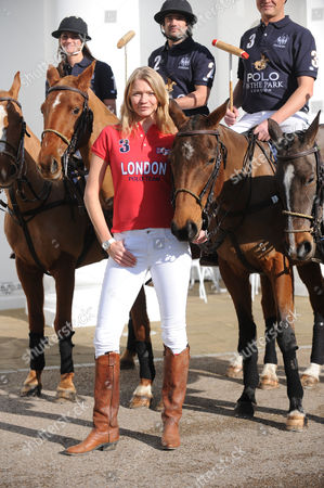 The Launch of the World Polo Series at the Hurlingham Club London England the World Polo Series Will Begin at Hurlingham Park For A 3 Day Extravaganza Kirsty Craig Henry Brett Jack Kidd with Jodie Kidd in Front