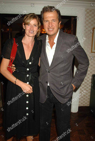 the Queen Premiere After-party at the Mirabelle Restaurant Curzon Street Arabella Macmillan and Mario Testino