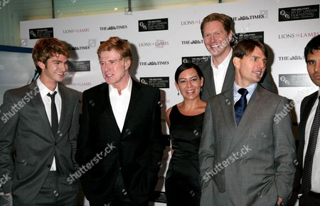 the Times Bfi 51st London Film Festival Times Gala and World Premiere of 'Lions For Lambs' at the Odeon Leicester Square Andrew Garfield Robert Redford Tracy Falco Matthew Michael Carnahan Tom Cruise
