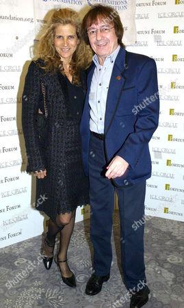 Third Fortune Forum Summit at the Dorchester Hotel Park Lane Bill Wyman with His Wife Suzanne