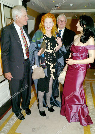 Third Fortune Forum Summit at the Dorchester Hotel Park Lane Ted Turner and Vivienne Westwood with Her Brother Gordon Swire and Renu Mehta