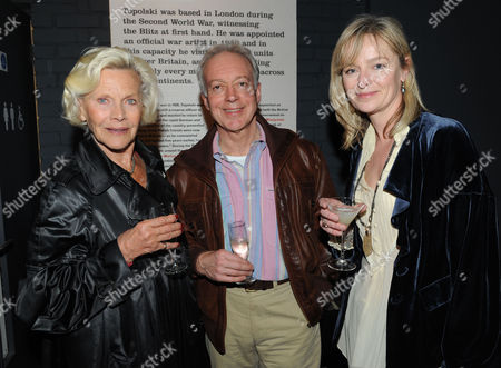 Topolski Century Opening at the Arches Hungerford Bridge Concert Hall Approach Waterloo London Honor Blackman Nickolas Grace & Katie Rabbit