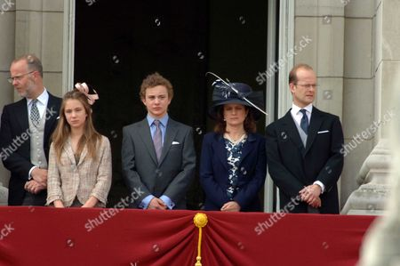 Trooping of the Colour to Celebrate Hm the Queens 80th Offical Birthday Scenes at Buckingham Palace the Earl of St Andrews Lady Amelia Windsor Lord Downpatrick Sylvana Windsor Countess of St Andrews Lord Nicholas Windsor
